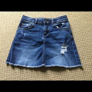 Zara Girls Jean Skirt, Size 7
